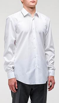 Белая рубашка Hugo Boss из хлопка, фото
