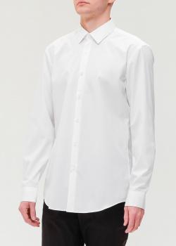 Белая хлопковая рубашка Hugo Boss , фото