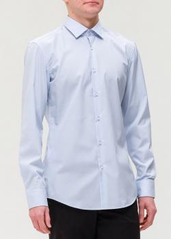 Хлопковая рубашка Hugo Boss светло-голубого цвета, фото