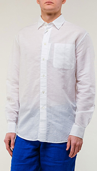 Мужская рубашка Kenzo белого цвета, фото