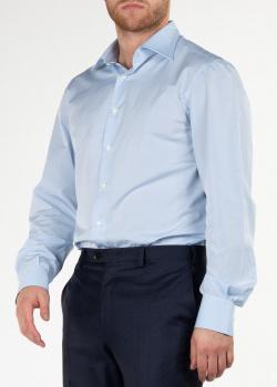 Однотонная рубашка Cesare Attolini в голубом цвете, фото