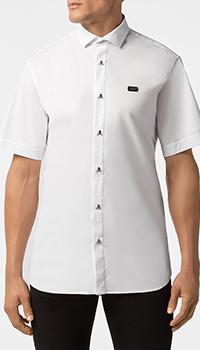Белая рубашка Philipp Plein Skull с пуговицами в виде черепов, фото