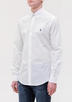 Хлопковая рубашка Polo Ralph Lauren с длинным рукавом, фото