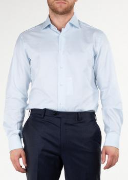 Голубая рубашка Brioni из хлопка, фото