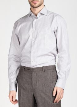 Рубашка в мелкую клетку Brioni с длинным рукавом, фото