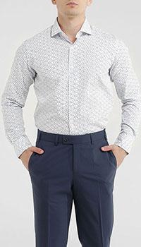 Белая рубашка Orian с цветочным принтом, фото
