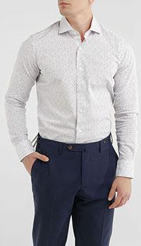 Рубашка Orian белого цвета с принтом-цветами, фото