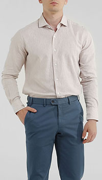 Льняная рубашка Orian бежевого цвета, фото