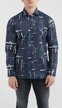 Рубашка Bagutta с абстрактным принтом, фото