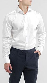 Однотонная рубашка Van Laack белого цвета, фото