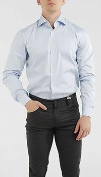 Голубая рубашка Van Laack с длинным рукавом, фото