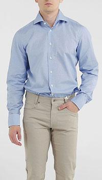 Мужская рубашка Van Laack голубого цвета, фото