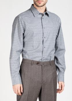 Рубашка с длинным рукавом Brioni серого цвета, фото