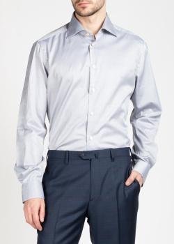 Светло-серая рубашка Kiton с длинным рукавом, фото