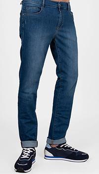 Мужские джинсы Trussardi Jeans с логотипом на кармане, фото