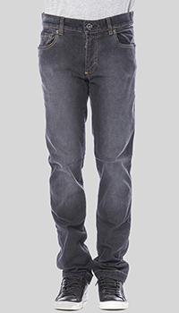Серые джинсы Billionaire с логотипом на заднем кармане, фото