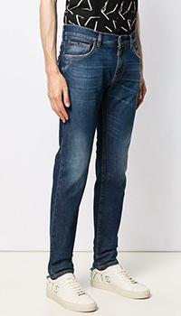 Синие джинсы Dolce&Gabbana прямого кроя, фото