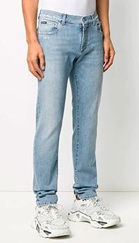 Голубые джинсы Dolce&Gabbana прямого кроя, фото