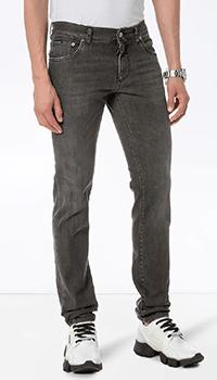 Мужские джинсы Dolce&Gabbana темно-серого цвета, фото