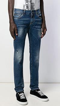 Зауженные джинсы Dolce&Gabbana рваные, фото