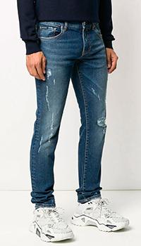Рваные джинсы Dolce&Gabbana синего цвета, фото