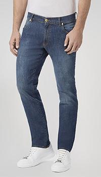 Синие джинсы Billionaire с потертостями, фото