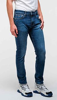 Зауженные джинсы Calvin Klein синего цвета, фото