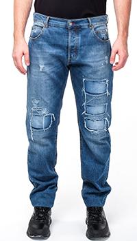 Мужские джинсы Cesare Pasiotti с заплатками, фото