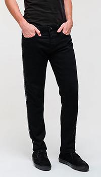 Мужские зауженные джинсы Emporio Armani синего цвета, фото