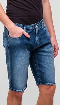 Джинсовые шорты Emporio Armani с карманами, фото