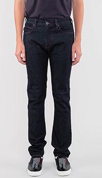 Синие джинсы Emporio Armani с красной строчкой, фото