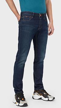 Прямые джинсы Emporio Armani с потертостями, фото
