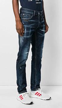 Прямые джинсы Frankie Morello синего цвета, фото