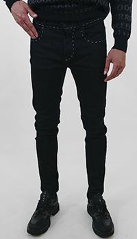 Зауженные джинсы Frankie Morello черного цвета , фото