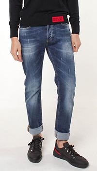 Синие джинсы Frankie Morello с эффектом потертостей, фото