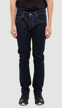 Синие джинсы Frankie Morello с желтой строчкой, фото
