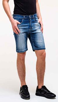 Джинсовые шорты Frankie Morello синего цвета, фото