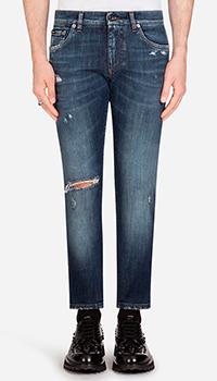 Узкие джинсы Dolce&Gabbana синего цвета, фото