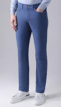 Зауженные джинсы Hugo Boss в синем цвете, фото