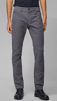 Зауженные джинсы Hugo Boss серого цвета, фото