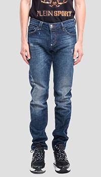Прямые джинсы Philipp Plein с потертостями, фото