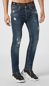 Мужские джинсы Philipp Plein с брендовым лого, фото