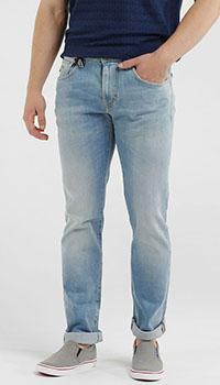 Потертые джинсы Tramarossa голубого цвета, фото