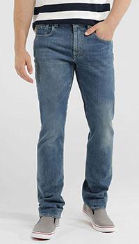 Потертые джинсы Tramarossa синего цвета, фото