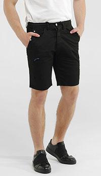Джинсовые шорты Frankie Morello черного цвета, фото