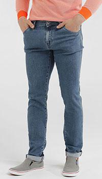 Джинсы Pantaloni Torino прямые синего цвета, фото