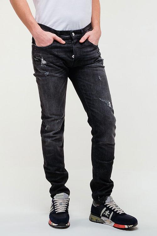 Рваные джинсы Frankie Morello в черном цвете, фото