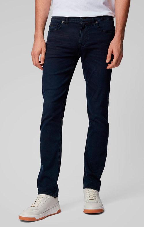 Мужские джинсы Hugo Boss темно-синего цвета, фото