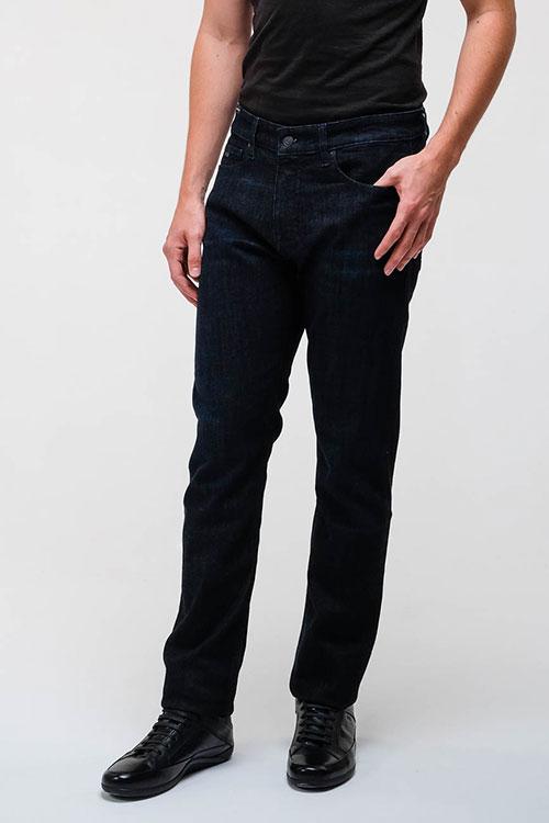 Зауженные джинсы Hugo Boss темно-синего цвета, фото
