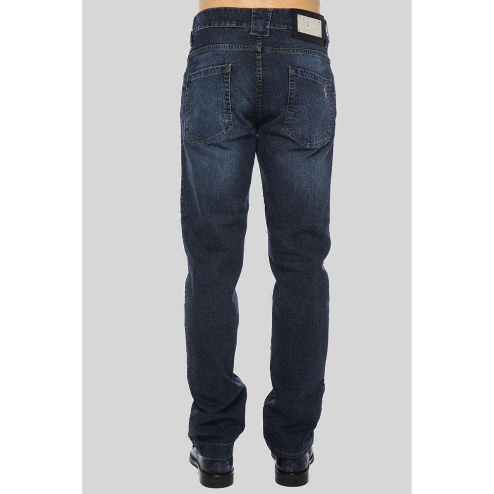 Темно-синие джинсы Billionaire с потертостями